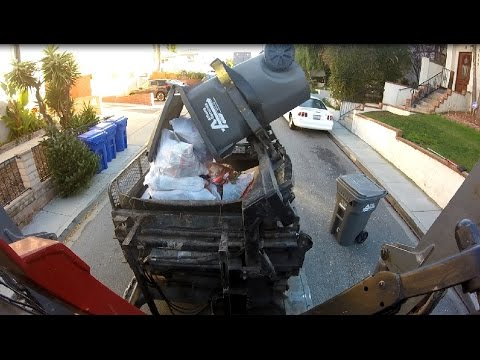 GoPro on Cab Ride-Along - A Garbage Day in Redondo Beach