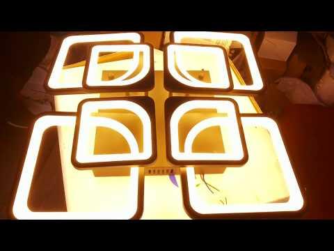 видео: НОВИНКА! Люстра светодиодные квадраты led 240w.Настройка пульта д\у