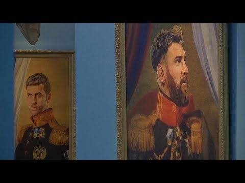 St. Petersburg exhibition paints World Cup players 'like the gods'