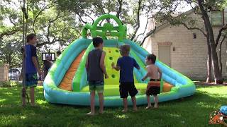 little tikes giant inflatable water slide golden giant surprise egg hunt paw patrol ballpit elsa