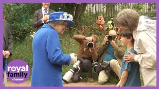 Queen and Princess Anne Visit Children's Wood Project in Glasgow