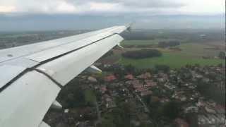 Landing in Geneva, Switzerland  (clear weather)  HD 1080p