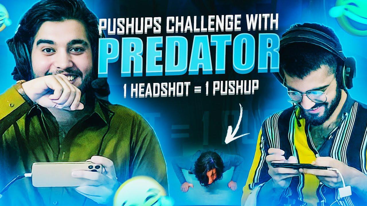 Push-up Challenge with @Predator 😂 | 1 Headshot = 1 Push-up | 47 khalifa pubg mobile