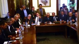 المستشار بهاء أبوشقة يتسلم رئاسة الوفد من السيد البدوي