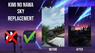 Download lagu [TUTORIAL] KIMI NO NAWA SKY REPLACEMENT ON ALIGHT MOTION