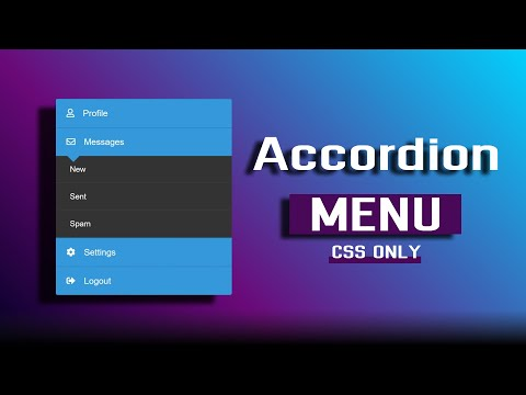 Accordion Menu Using Only HTML & CSS (2020)