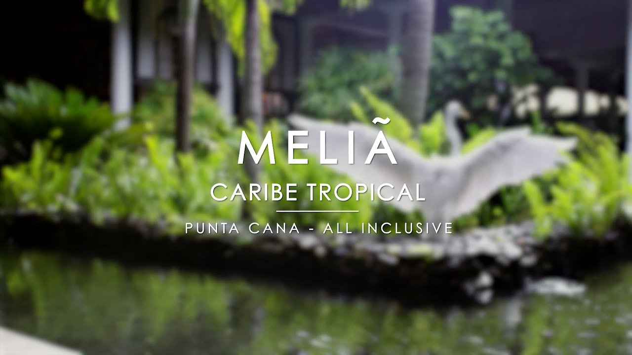 Melia caribe tropical punta cana all inclusive resort youtube