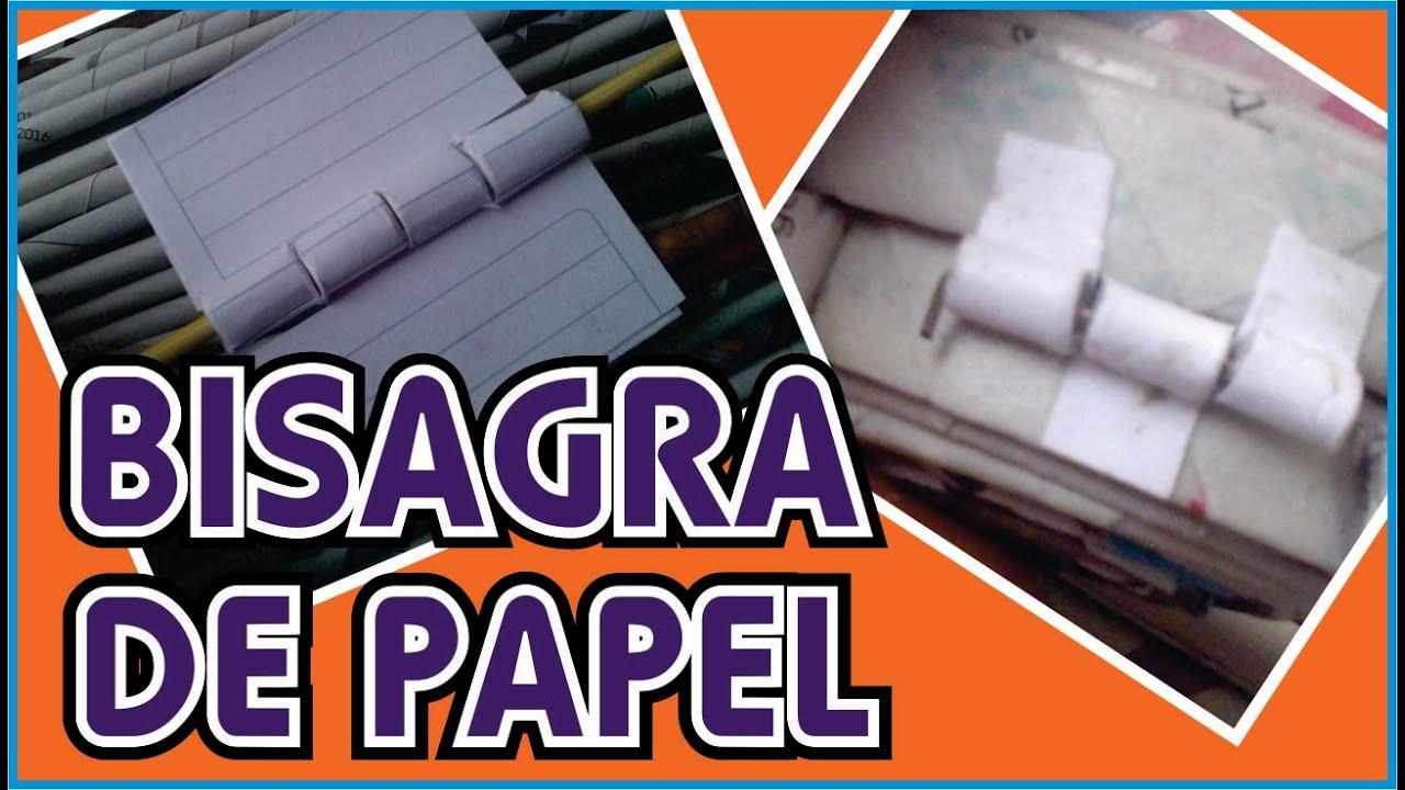Bisagras de papel reciclado diy youtube - Bisagra de libro ...