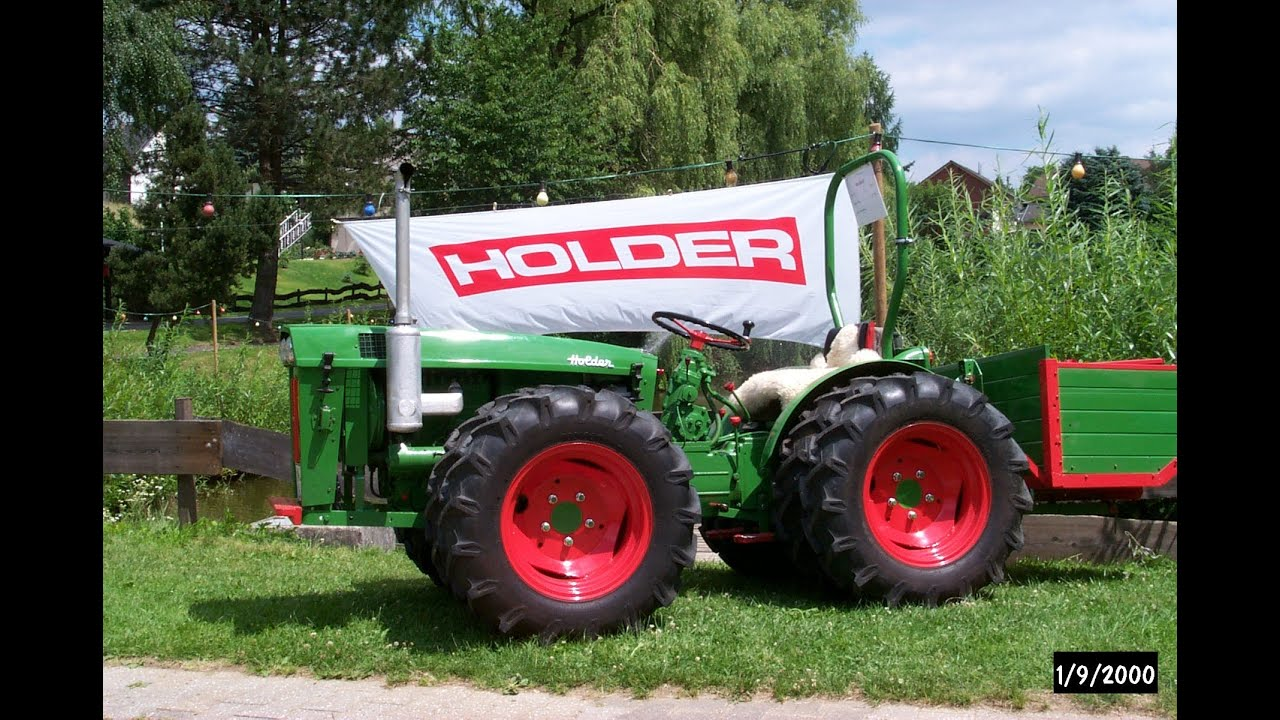 7. Holdertreffen - Holder Traktor Treffen in Hennef 2003 - mit Holder AG3 - YouTube