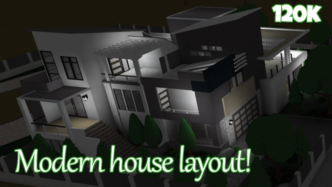 Modern House Layout Tutorial 120k Welcome To Bloxburg Roblox