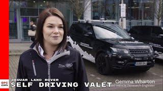 Jaguar Land Rover self driving cars valet demonstration