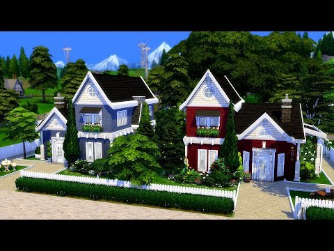 The Sims 4    Speed Build    Twin Houses thumbnail