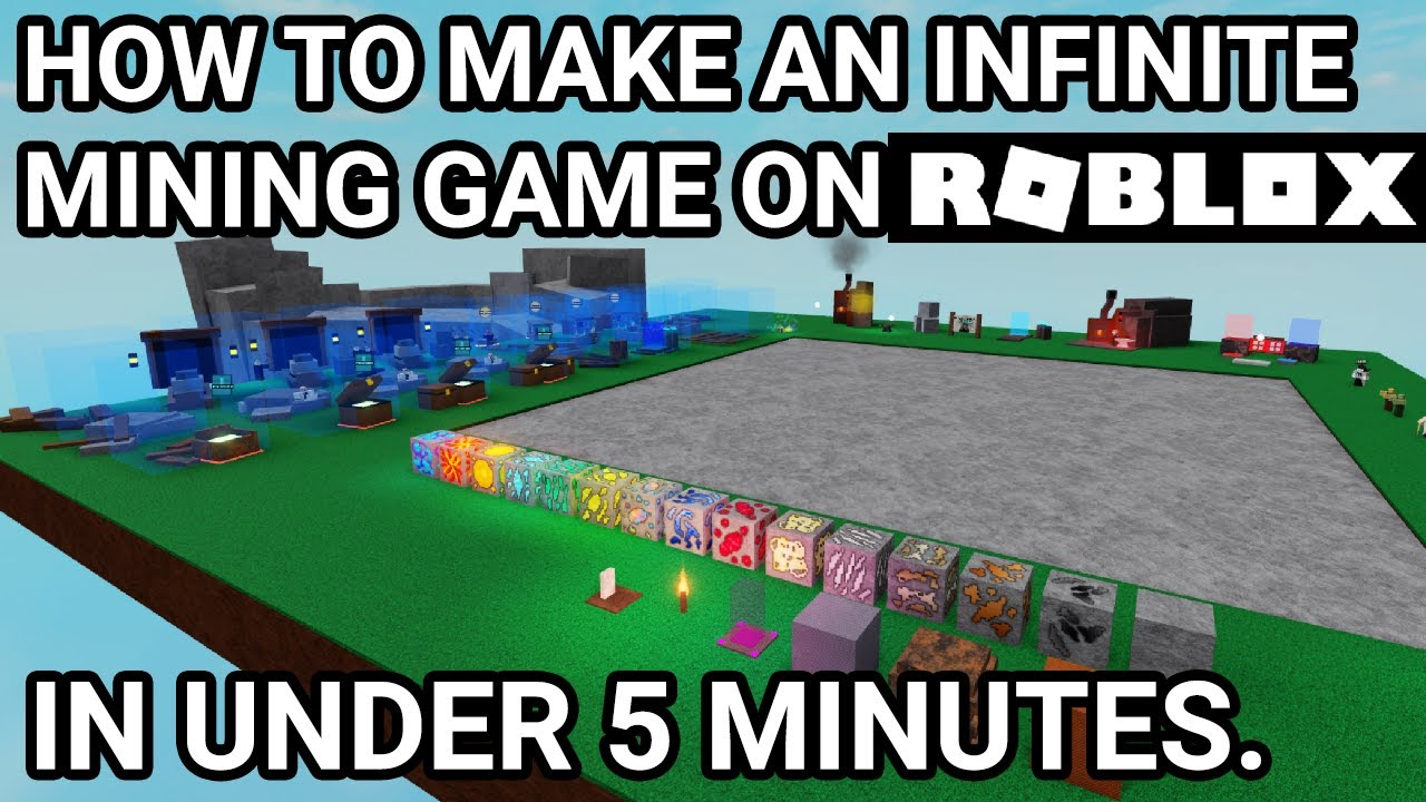 Make Your Own Infinite Mining Game Roblox Dev Tutorial Ber Gg