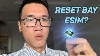 iPhone reset bay luôn eSIM?