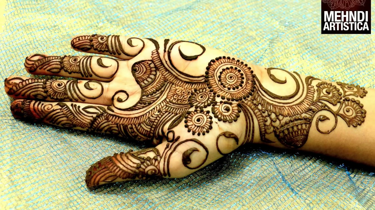Mehndi Designs For Palm : Easy simple beautiful circular mehndi designs for handslatest