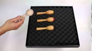 Mini Maracas Beech 13cm - Natural Finish - 1+ video