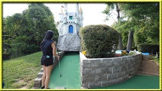 THAT WAS SUCH A LUCKY MINI GOLF HOLE IN ONE! | Brooks Holt