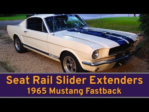 Seat Rail Extenders! Get more room in your Classic Mustang the easy way! S1 E12