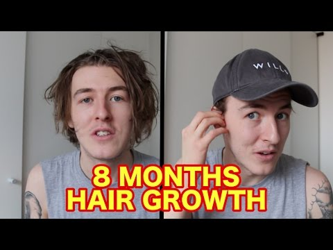 2bc54ab6a7ddb 8 MONTHS HAIR GROWTH  HOW TO WEAR A HAT WITH LONG HAIR! - YouTube