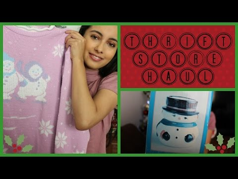 Holiday Thrift Store Haul! (Ugly Christmas Sweater, White Elephant Gift Ideas, and More!)