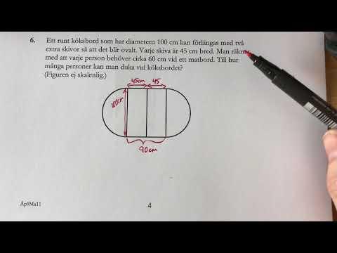 Matte NP åk 9  D delen 2011 del 3 NP Nationella prov fråga 6-7