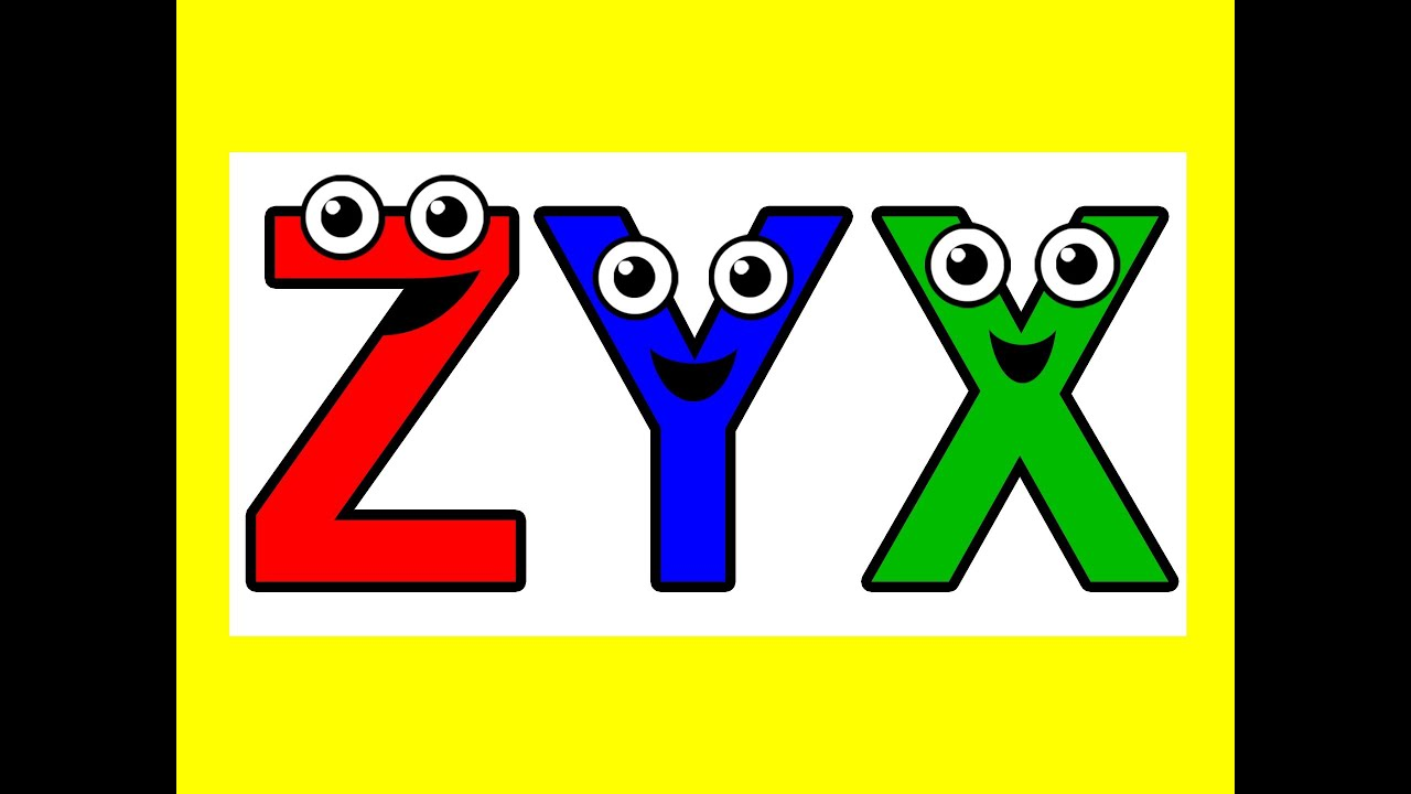 """Alphabet Backwards"" - Sing ZYX, ABC Song, Kids Learning ..."