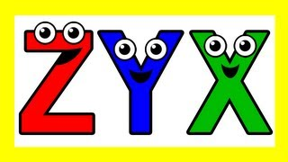 """Alphabet Backwards"" - Sing ZYX, ABC Song, Kids Learning Nursery Song, Teach Phonics, ABC123"