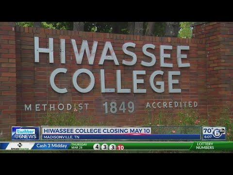 Hiwassee College closing May 10