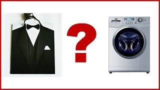 Как стирать мужской костюм в стиральной машине и вручную