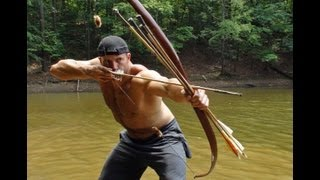 Hunting Dragonflies with a Primitive Bow 2! (HD)  Retaliation