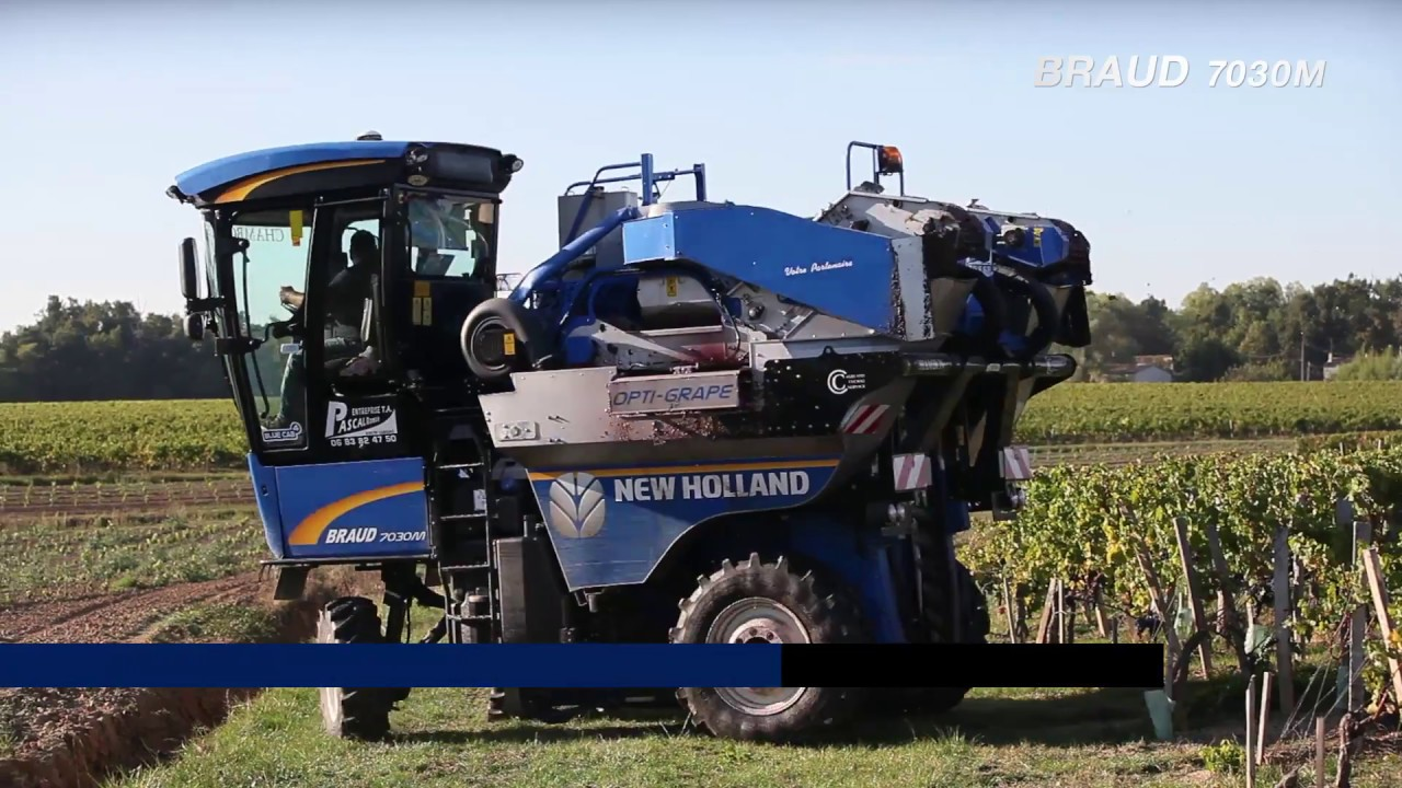 New Holland : Film de présentation de la nouvelle machine à vendanger : Braud 7030M