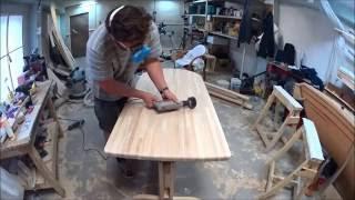 Кухонный стол из массива ясеня (Мастерская Пират Вудс)(Изготовление простого кухонного стола. http://piratewoods.ru/, 2016-09-12T12:32:26.000Z)