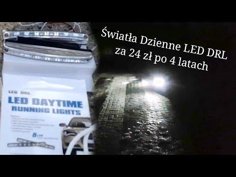 Światła do jazdy dziennej LED DRL za 24 zł z Allegro po 4 latach używania