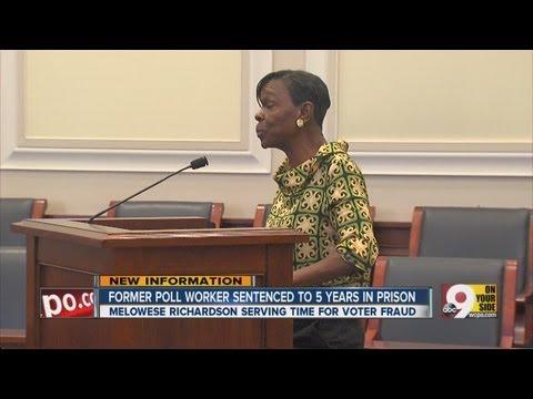 Poll worker sentenced