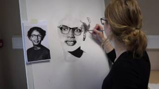 Claudette Colvin Time Lapse Painted Portrait
