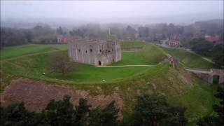 Rising Castle Rising from the (ghostly) mists  -  Dji Mavic Pro drone -  Skydronauts