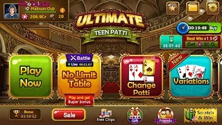 How To Enter ULTIMATE TEEN PATTI 200,5000,50,000 Table With Unlimited Chips screenshot 5