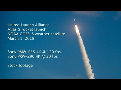 ULA Rocket Launch shot with Sony PXW-Z90 piggy-backed on PMW-F55