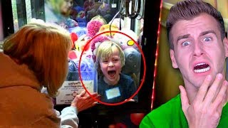 KID Accidentally Gets STUCK In TOY MACHINE (For 2 Days)...
