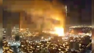 Raw: Explosion in Dubai Hotel Fire