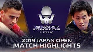 Yuki Hirano vs Tiago Apolonia | 2019 ITTF Japan Open Highlights (Pre)