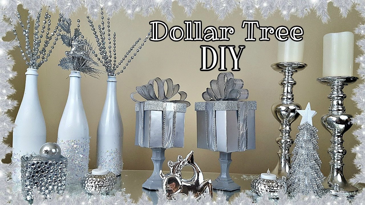 Diy Dollar Tree Gift Box Christmas Home Decor Craft Youtube