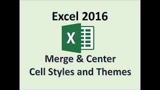Excel 2016 - Meŗge and Center - How to Merge Cells - Merging the Selected Cell Row Column in MS 365