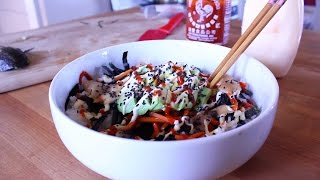 Vegan Gluten Free SUSHI BOWL! Step-by-step Recipe