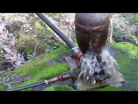 Hydraulic Ram Pump - Pure spring water pumping system for drinking - No Electricity works on Gravity