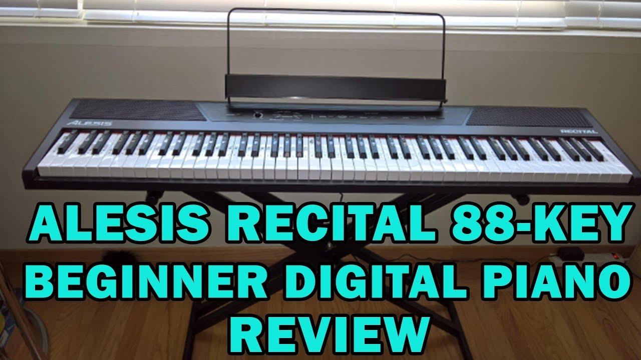 alesis recital 88 key beginner digital piano review 2018 youtube. Black Bedroom Furniture Sets. Home Design Ideas