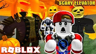 ROBLOX | Welcome to halloween Horror in the elevator with the Ogre | The Scary Elevator | Vamy Tran