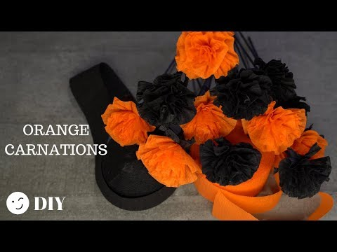 205 How To Make Paper Flowers Halloween Carnations Very Easy