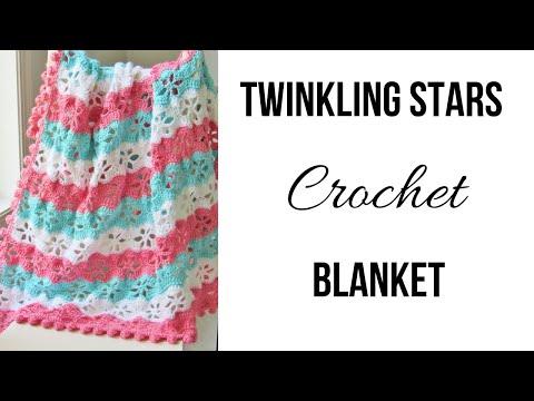 Crochet Blanket Free Pattern, Twinkling Stars Blanket With