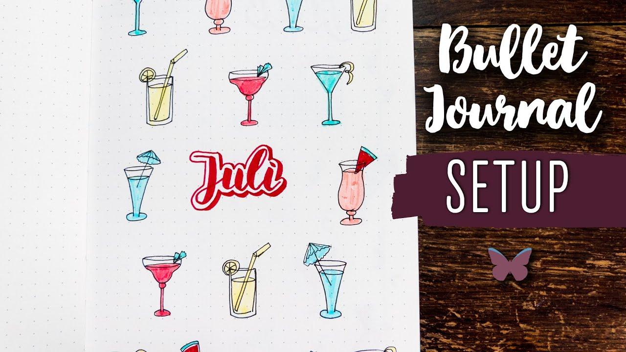 JULI 🍹Bullet Journal Setup 2020 | plan with me deutsch